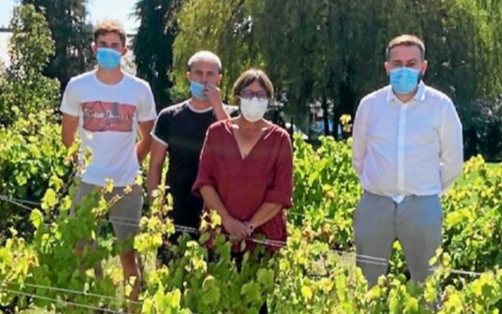 La première production de la vigne du lycée Kerlebost à Saint-Thuriau