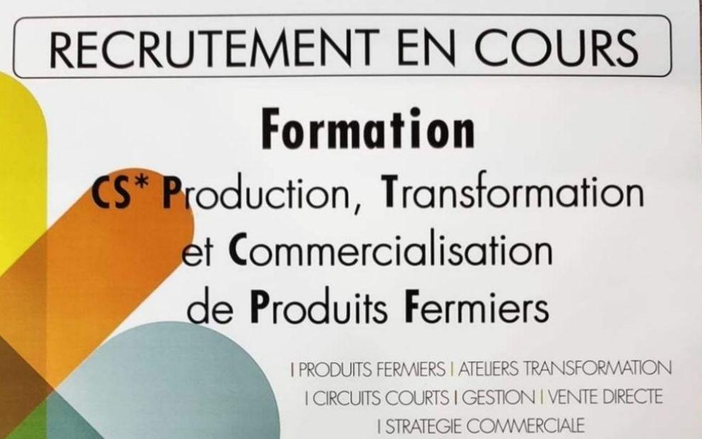 Formation, les inscriptions sont ouvertes pour un CS Production, Transformation et commercialisation de Produits fermiers