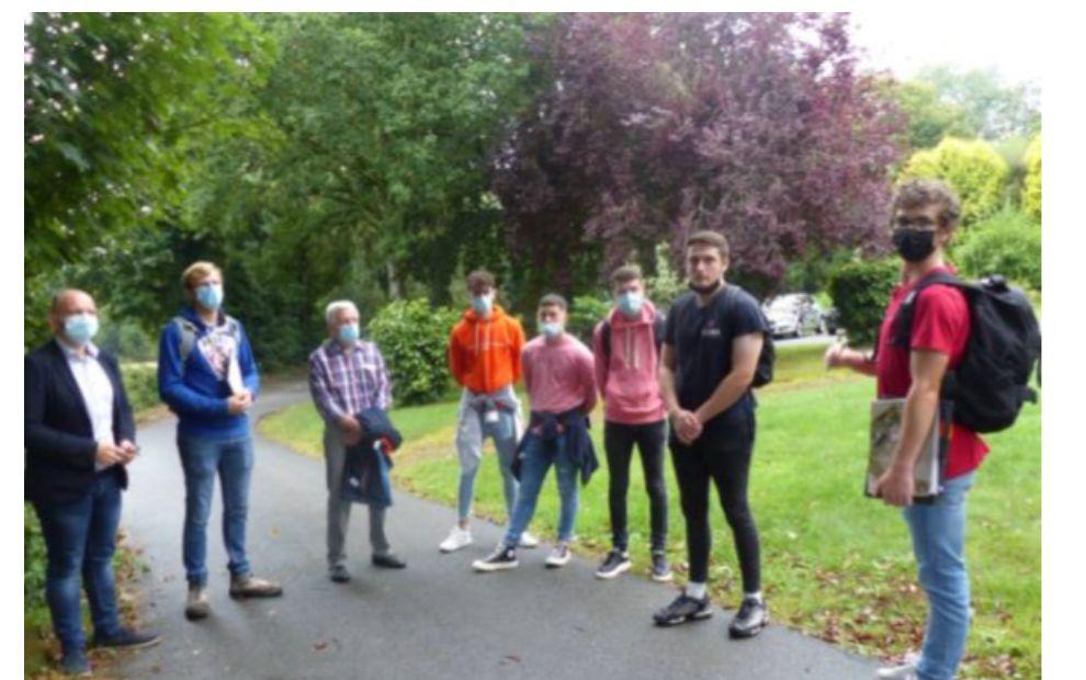 Le parc de l'Ehpad du Cosquer repensé par des étudiants